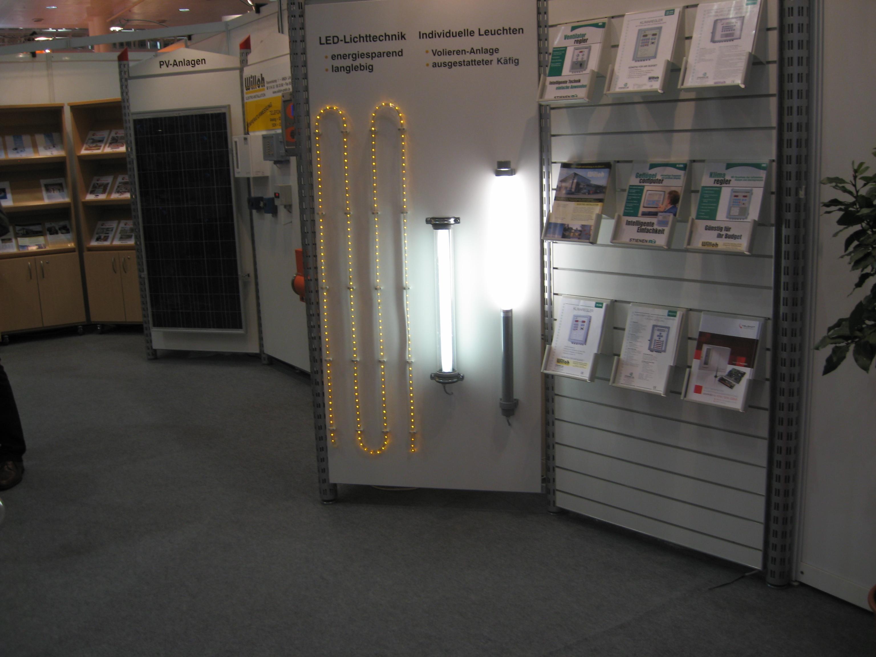 Светодиодные светильники на  выставке  Eurotier 2010