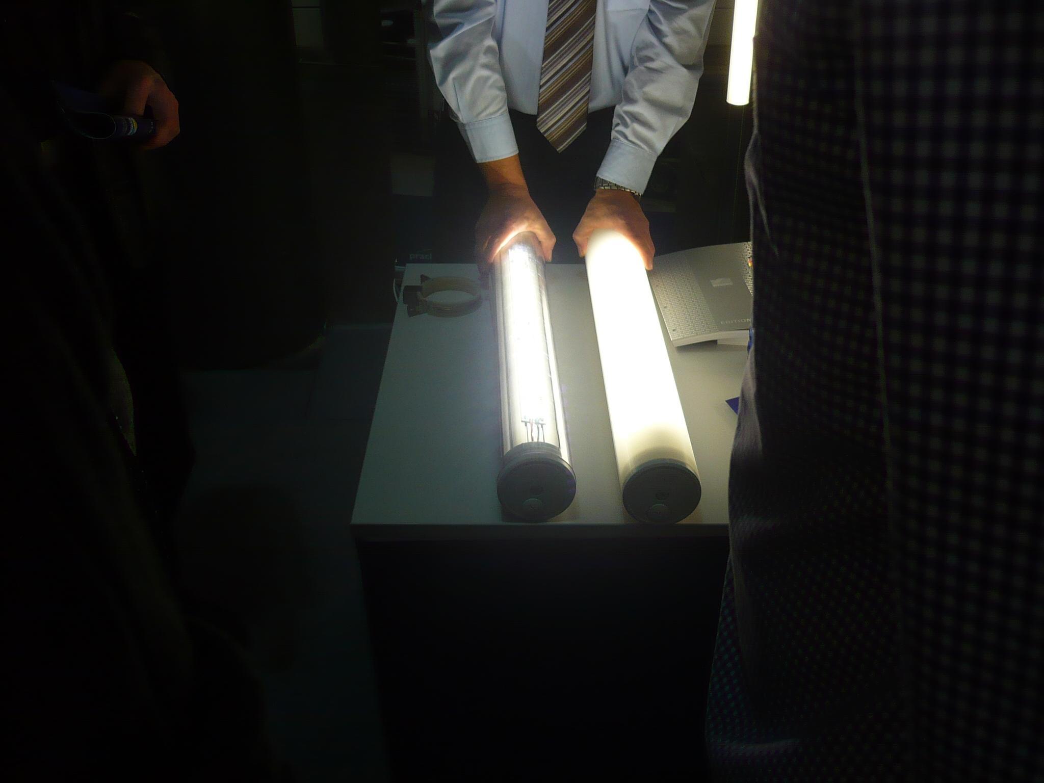Еще один стенд со светодиодными светильниками на Eurotier 2010