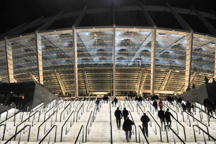 Экстерьер киевского стадиона.